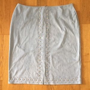 Neiman Marcus studded faux suede skirt sz S